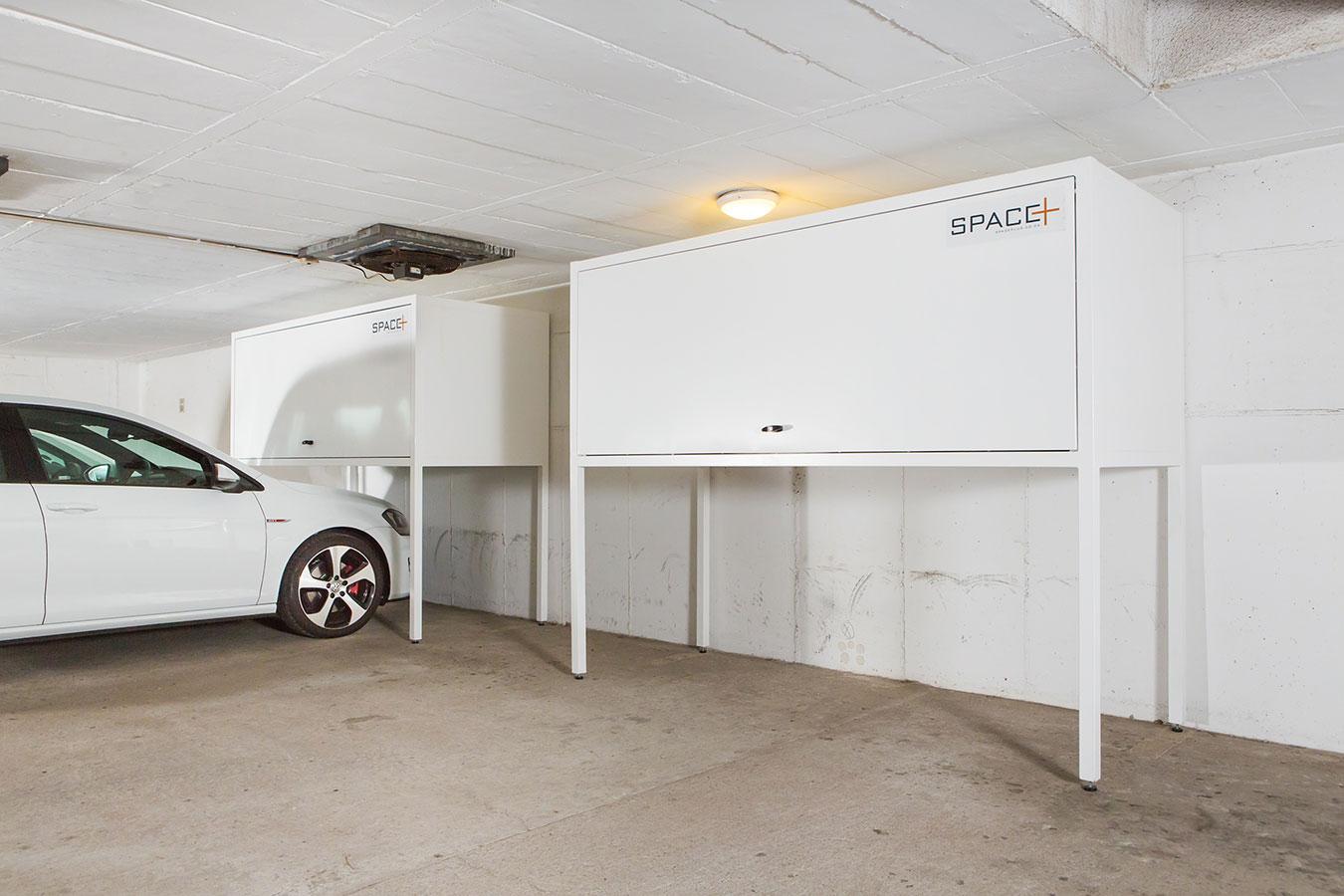 Overhead storage rack recommendations houserepairtalk for Over car garage storage